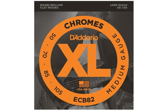 D'Addario ECB82 Chromes Bass Strings, Medium, 50-105