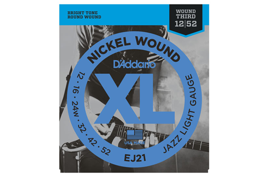 D'Addario EJ21 Jazz Light Electric Strings .012-.052
