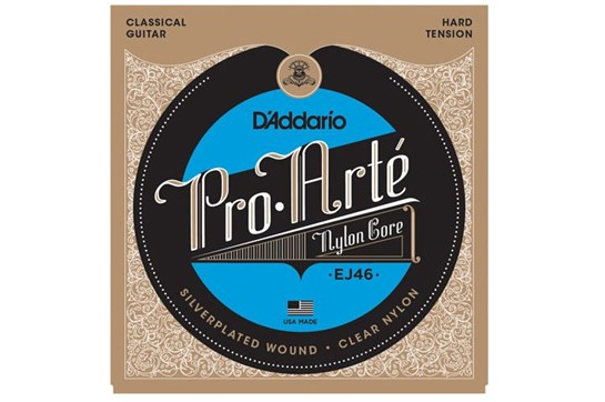 D'Addario EJ46 Pro-Arté Nylon Classical Guitar Strings, Hard Tension