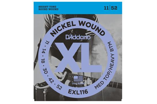 D'Addario EXL116 Medium Top/Heavy Bottom Electric Strings .011-.052