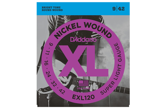 D'Addario EXL120 Super Light Nickel Wound Electric Strings .009-.042