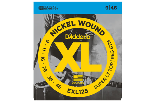 D'Addario EXL125 Super Light Top/Regular Bottom Electric Strings .009-.046