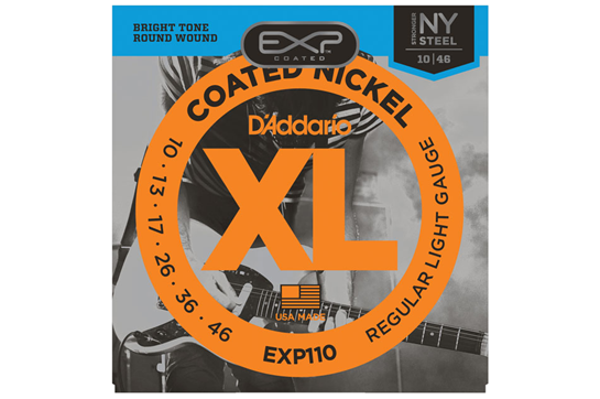D'Addario EXP110 Coated Electric Guitar Strings Regular Light
