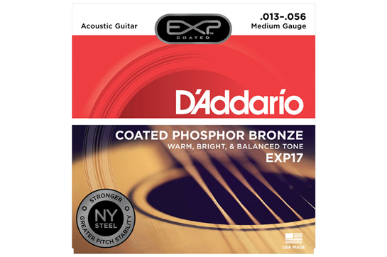 D'Addario EXP17 Coated Phosphor Bronze Acoustic Guitar Strings