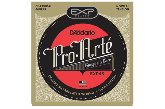 D'Addario EXP45 Coated Nylon Guitar Strings Normal