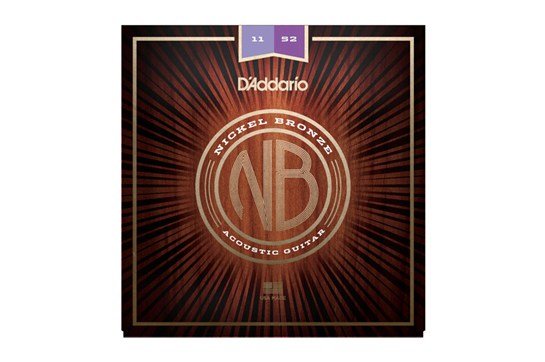D'addario NB1152 Nickel Bronze Custom Light Acoustic Guitar Strings, .011-.052