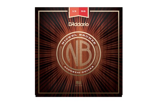 D'addario NB1356 Nickel Bronze Acoustic Guitar Strings, .013-.056