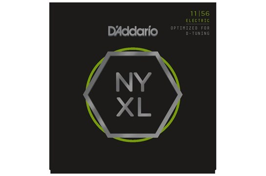 D'Addario NYXL1156 Nickel Wound Strings, Medium Top / Extra-Heavy Bottom, 11-56