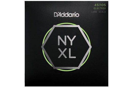 D'Addario NYXL45105 Bass Strings, Light Top / Med Bottom, 45-105