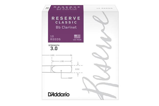 D'Addario Reserve Classic Clarinet Reeds (3.0, 10 Pack)