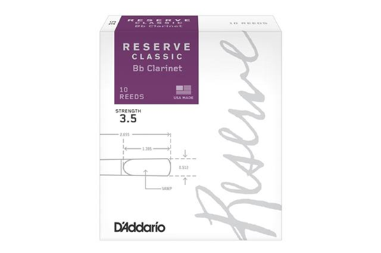 D'Addario Reserve Classic Clarinet Reeds (3.5, 10 Pack)