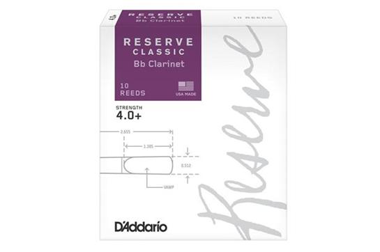 D'Addario Reserve Classic Clarinet Reeds (4.0+, 10 Pack)