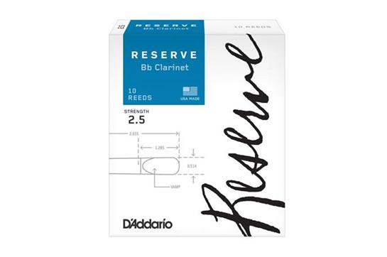 D'Addario Reserve Clarinet Reeds (2.5, 10 Pack)