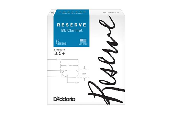 D'Addario Reserve Clarinet Reeds (3.5+, 10 Pack)