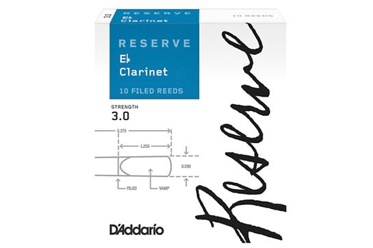 D'Addario Reserve Clarinet Reeds (3.0, 10 Pack)