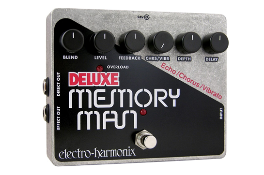 Electro-Harmonix Deluxe Memory Man Analog Delay Guitar Effects Pedal
