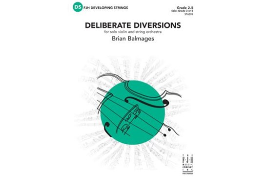 Deliberate Diversions for solo violin and string orchestra || Grade 2.5