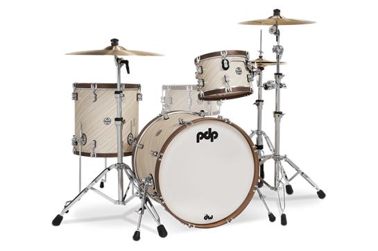 PDP Limited Edition Wood Hoop Drum Set - Twisted Ivory & Walnut