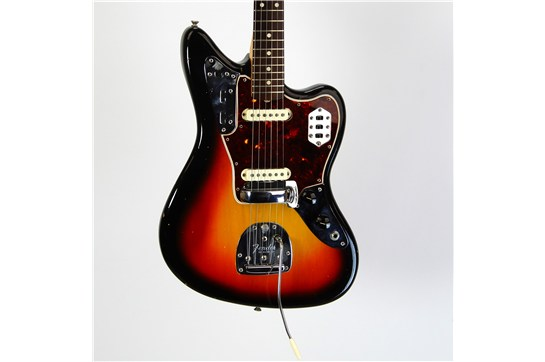 (SOLD) Fender Jaguar 99% Original w/ OHSC 1965 Sunburst
