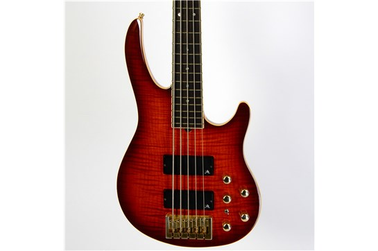 Used Brian Moore i5 Bass Guitar (Flame Burst)