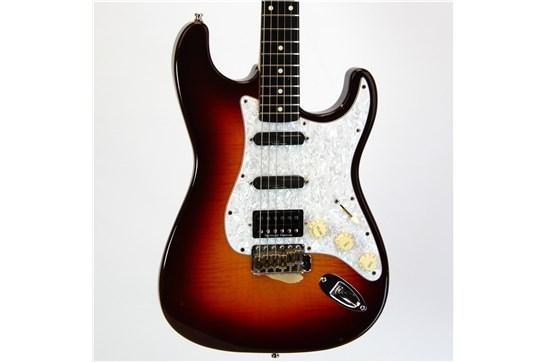 Vintage Fender Foto Flame Stratocaster MIJ w/ OHSC & Hamburgler Neck 1994 Foto Flame (Burst)