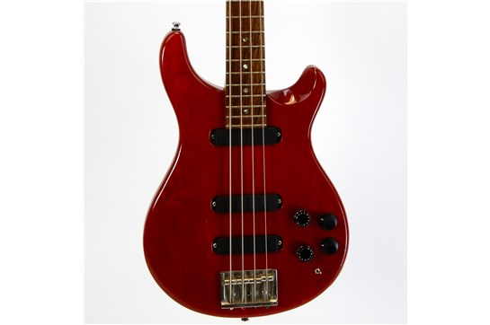 Used PRS Bass 4 String w/ Active Electronics & gig bag 1990's (Red)
