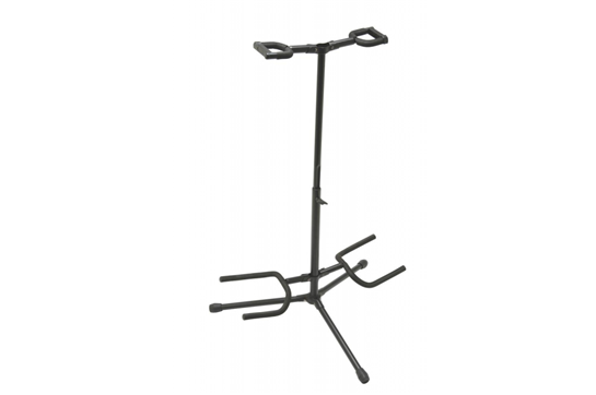 On-Stage Deluxe Folding Double Guitar Stand with Locking Hinge