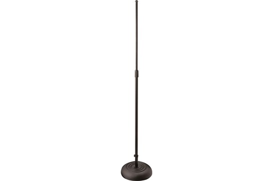 On-Stage Round Base Mic Stand - Black