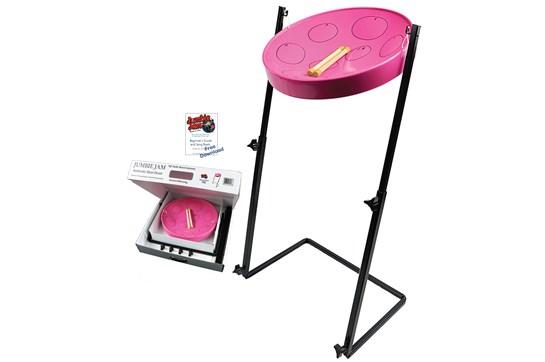 Panyard Jumbie Jam Steel Drum w/Z Stand (Pink)