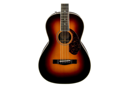 Fender Paramount Series PM-2 Deluxe Parlor Acoustic-Electric Guitar  (Vintage Sunburst)