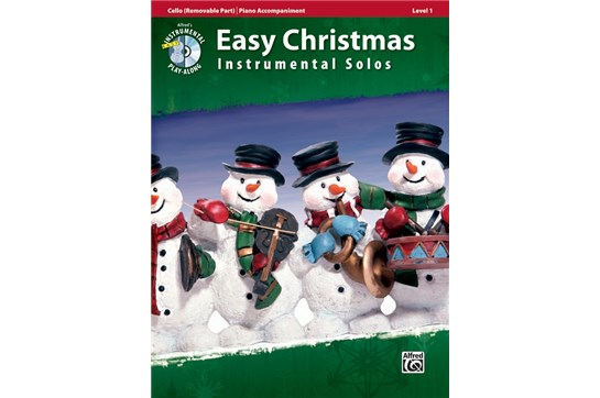 Easy Christmas Instrumental Solos with CD (Cello)