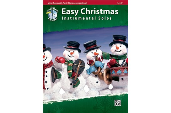 Easy Christmas Instrumental Solos with CD (Viola)