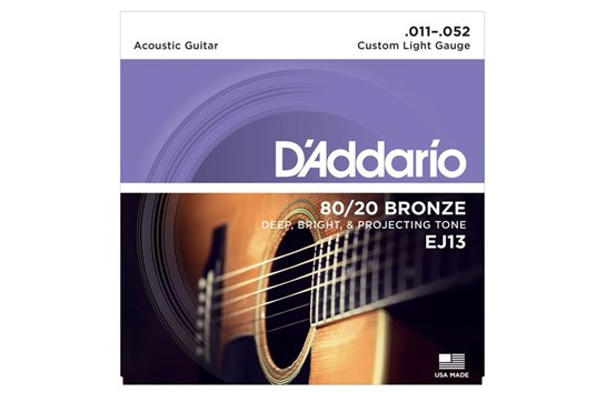D'Addario EJ13 80/20 Bronze Acoustic Guitar Strings