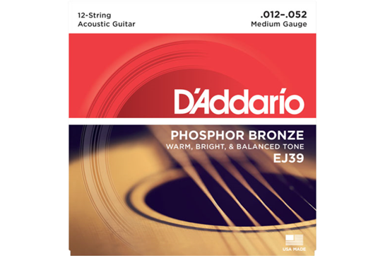 D'Addario EJ39 12-String Medium Acoustic Strings .012-.052