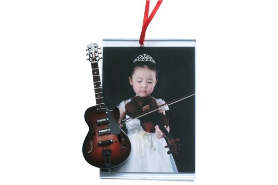 Picture Frame Ornament With Brown Electric Guitar