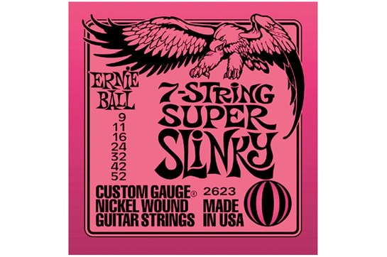 Ernie Ball 2623 7-String Super Slinky Strings .009-.052