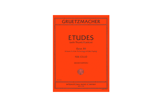 Etudes Opus 38 Volume II of the Technology of Cello Playing