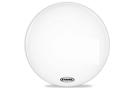 Evans MX2 White Marching Bass Drumhead, 26