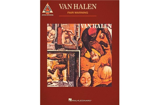 Van Halen - Fair Warning - Guitar Recorded Versions Guitar Tab Book