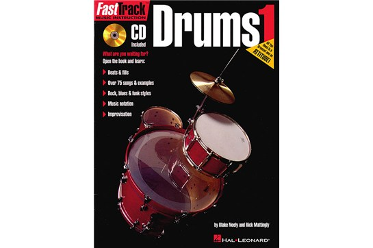 FastTrack Drums Drum Method - Book 1