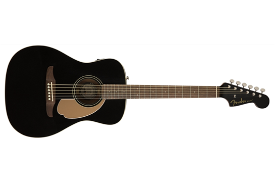 Fender Malibu Player Jetty Black Acoustic Guitar