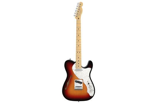 Used Fender American Deluxe Telecaster Thinline Maple (3-Tone Sunburst)