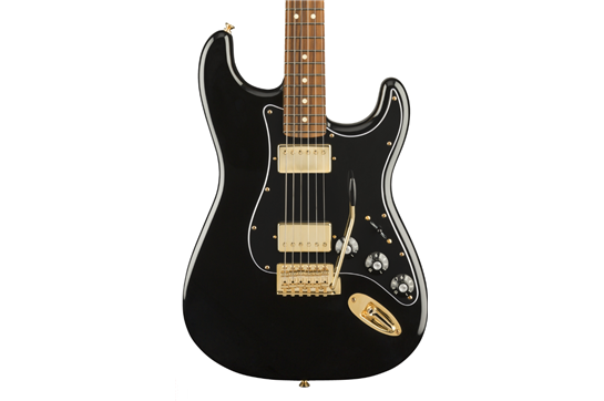 Fender LTD Mahogany Black Top Strat PF BK GLD