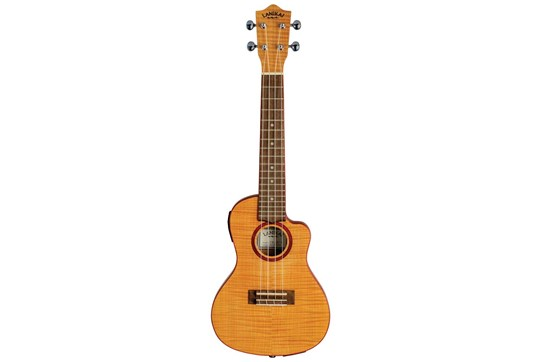 Lanikai Flame Maple Thinline Concert Ukulele