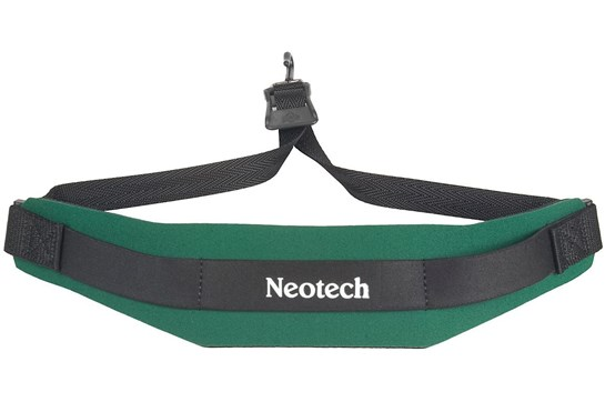 Neotech Soft Neck Strap Sax in Forest Green (with metal hook)