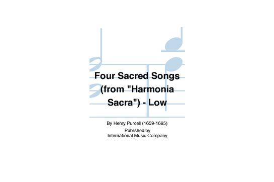 Four Sacred Songs (from Harmonia Sacra) - Low Voice