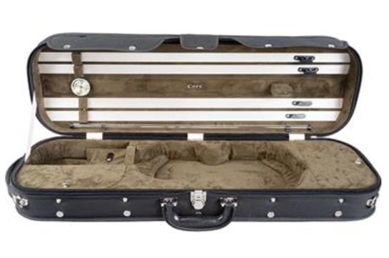 Howard Core CC525 Wood-Shell 4/4 Violin Case (Green Interior)