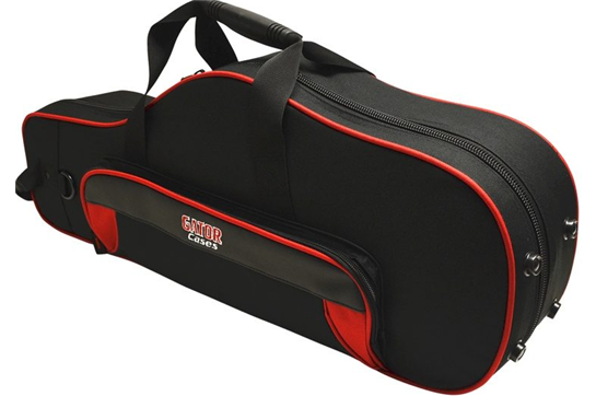 Gator Cases Spirit Series Lightweight Alto Saxophone Case (Red and Black)