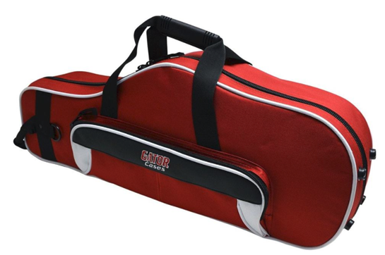 Gator Cases Spirit Series Lightweight Alto Saxophone Case (Red and White)