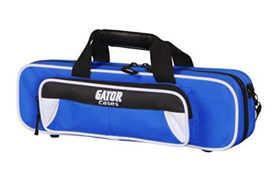 Gator Spirit Lightweight Flute Case (white and blue)